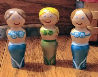 Peg Doll Little Mermaid Montessori Waldorf Preschool