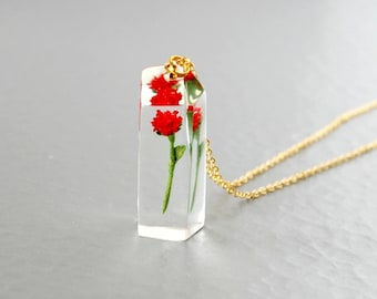 Flower in the ice. Red  - 14kgf chain