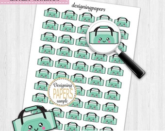 Gym Bag Planner Stickers, Stickers For Planners, Workout Planner Stickers, Decorating Stickers
