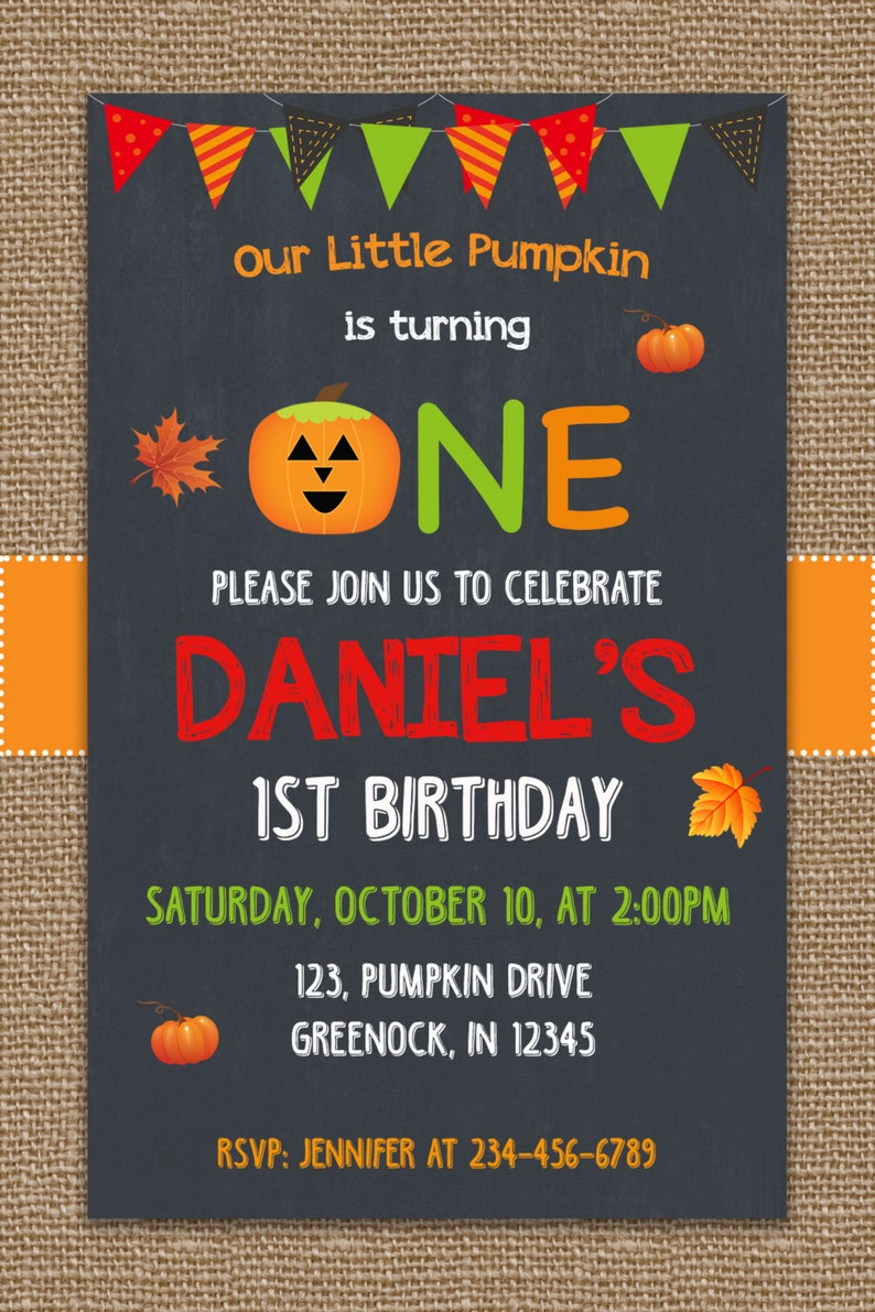 Halloween Birthday Invites Babys First