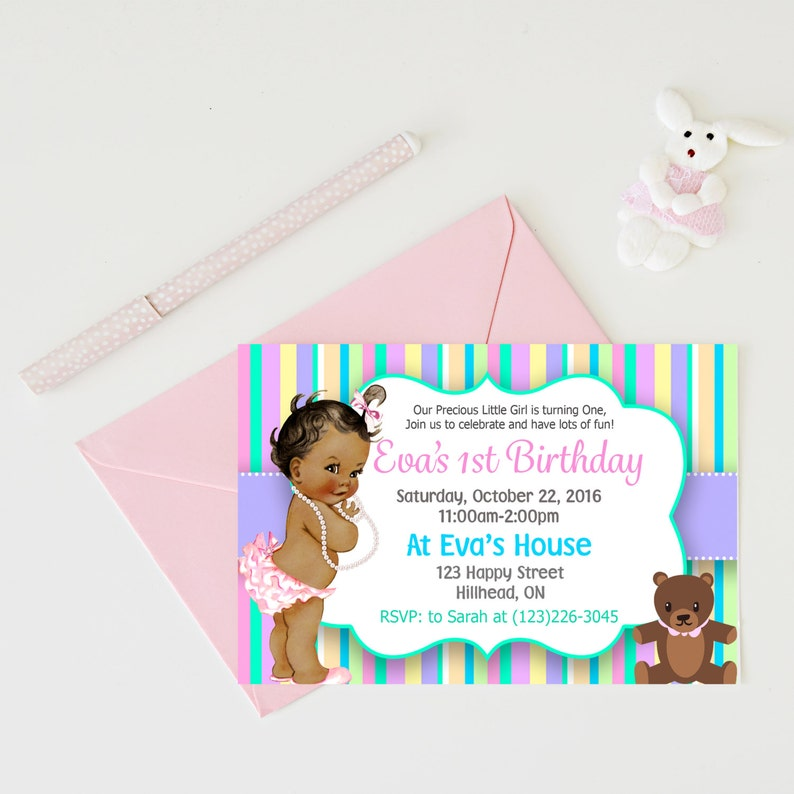 Babys First Birthday Invitations Baby Party 1st