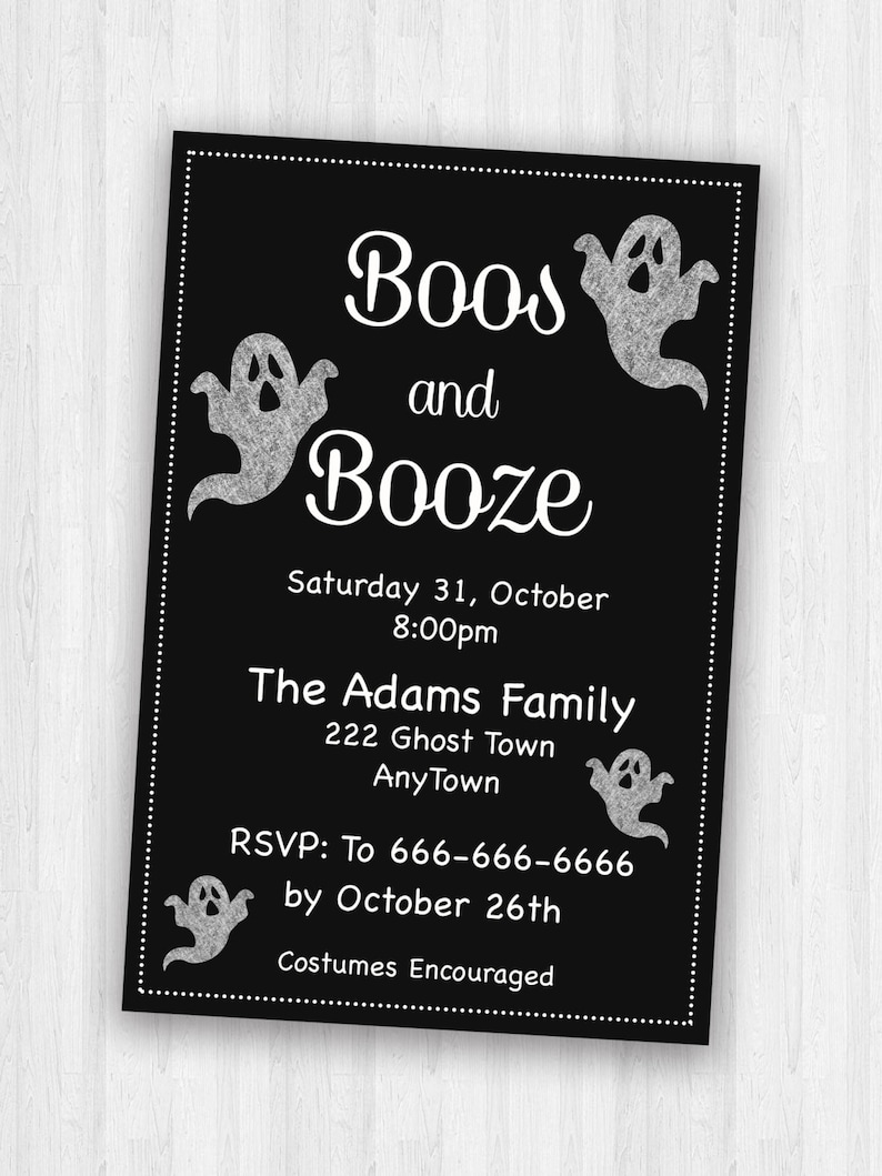 image regarding Halloween Invites Printable called Grownup Halloween Invites, Occasion Invites. Halloween invitations, Printable Halloween Invitaions