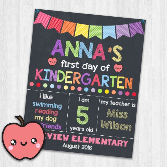 graphic relating to Printable Back to School Signs called To start with Working day of Kindergarten Printable Indicators Again toward College or university Indicator Photoprop College or university Signs or symptoms