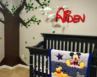 Baby name plaque etsy disney style personalized wooden baby negle Image collections