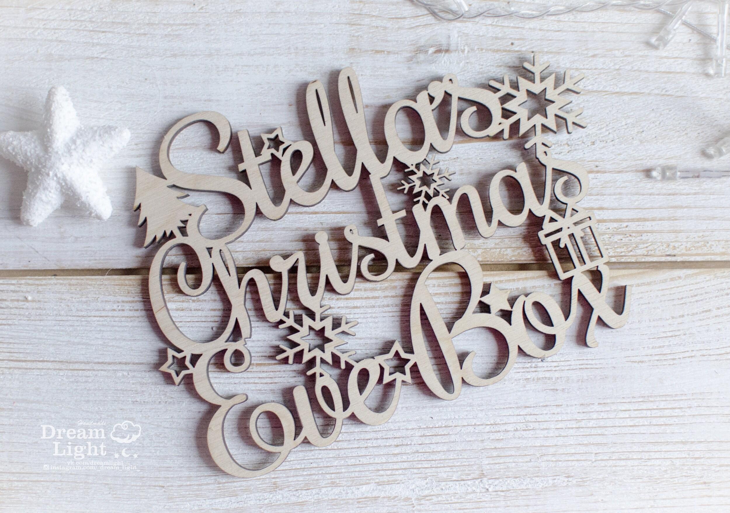 Heiligabend-Box Holzkiste Weihnachten personalisierte Box | Etsy