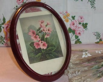 Lovely small frame oval old