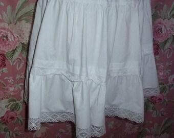 Skirt ruffle, vintage lace