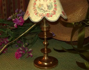 An old 19 th fitted candlestick lamp