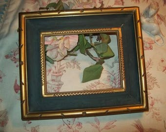 A nice old wooden frame gold and green original paint