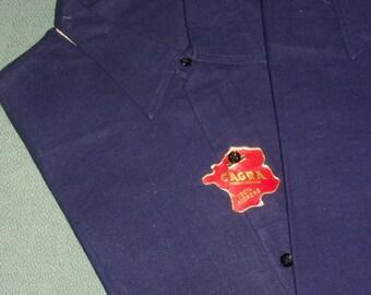 Old shirt, work, cotton, Navy