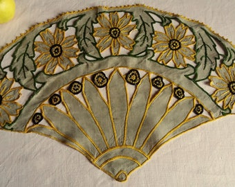 Old embroidery for decoration and top cushion