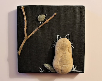 PEBBLE ART - Small canvas on chassis