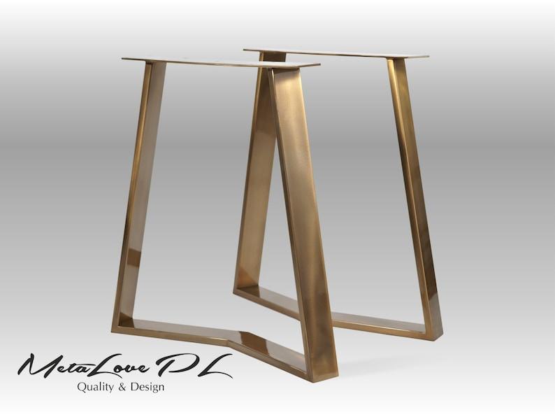Goldene Tischbeine Tischbeine Stahl 2er Set Esstisch Etsy
