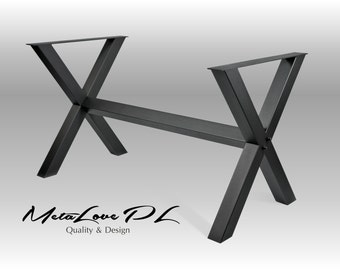 """Industrial Table, Dining Table Base, Metal Table Base, Furniture Height 26"""" - 32"""" Custom Sizes Available XERO 70.70"""