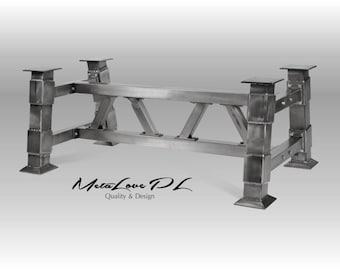 Industrial table base, Unique , Industrial interiors ,  DIY BRIDGE Industrial Table Base