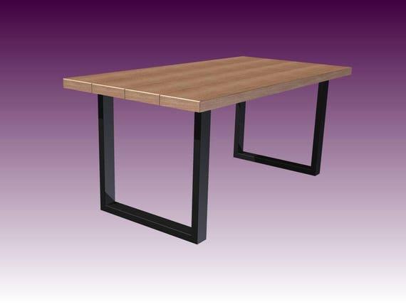 Metallo set(2) di gambe tavolo da pranzo. Gambe tavolo 80x40mm. Set di  gambe del tavolo, tavolo industriale, di ferro di 2, CRUDO 80.40