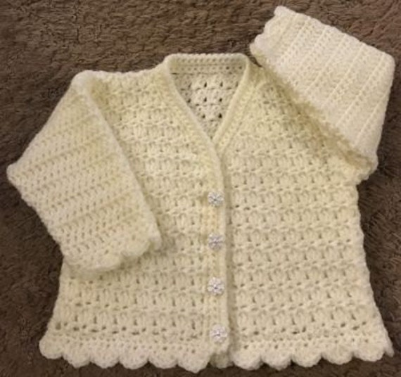3f0006b77 PDF Instant Download Baby Crochet Cardigan Pattern in DK.