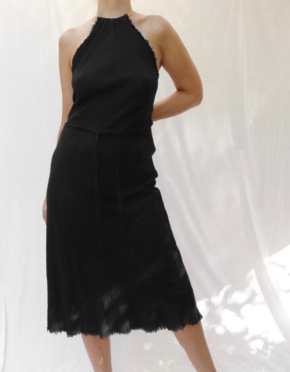 vintage 90s bias cut minimalist backless halter mi