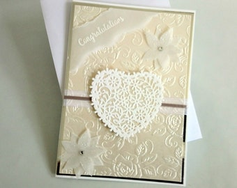 Heart wedding card, congratulations card, wedding card, heart congratulations card, wedding day card, congratulations, wedding day,