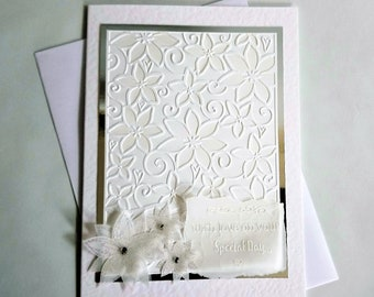 Floral wedding card, congratulations card, wedding card, flower congratulations card, wedding day card, congratulations, wedding day,
