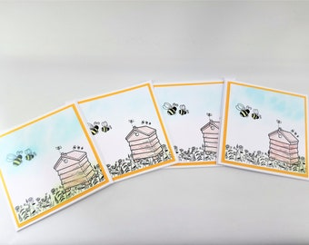 Beehive card set, beehive blank cards, beehive greeting card, notelets