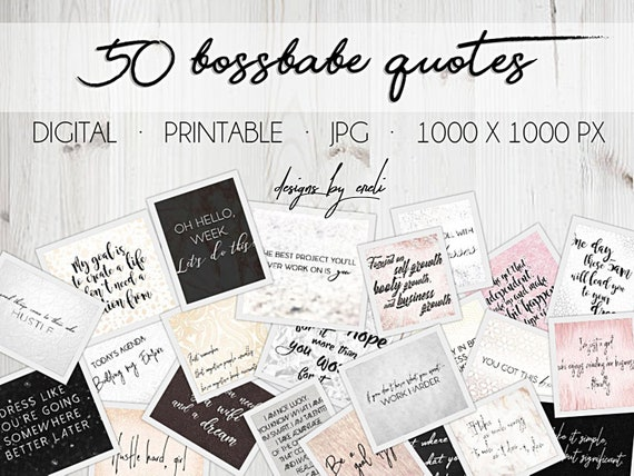 50 Bossbabe Quotes for Your Vision Board, Empowering and Motivating Female  Boss Quotes, Entrepreneur, Businesswoman Inspiration Boss Babe
