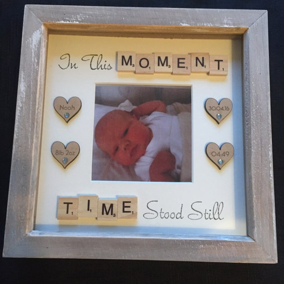Handmade Personalised Quote Frame New Baby Christening Etsy