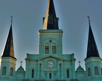 New Orleans Photography, New Orleans Prints, New Orleans Art, New Orleans Decor, St. Louis Cathedral, Church photo, French Quarter Photo