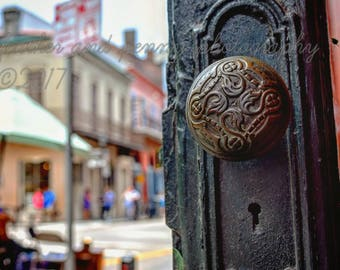 New Orleans Photography, New Orleans Prints, New Orleans Art, New Orleans Decor, Antique door knobs, Architecture photos, Old Doors, NOLA