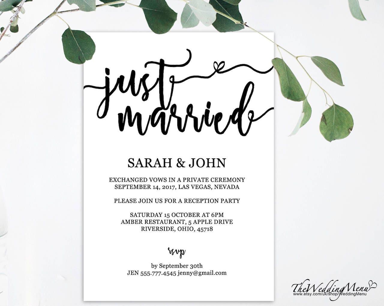 printable just married we eloped just eloped eloped