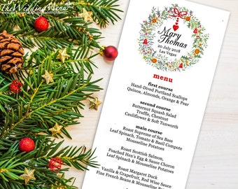 Christmas Menu Template Christmas Menu PDF Wedding Menu Holiday Menu Printable Menu Christmas Dinner Menu Template Christmas Party Menu 009