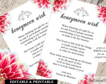 honeymoon fund, honeymoon fundraiser, honeymoon ideas, honeymoon wish, honeymoon printable, asking for money, honeymoon poem, pdf, 002