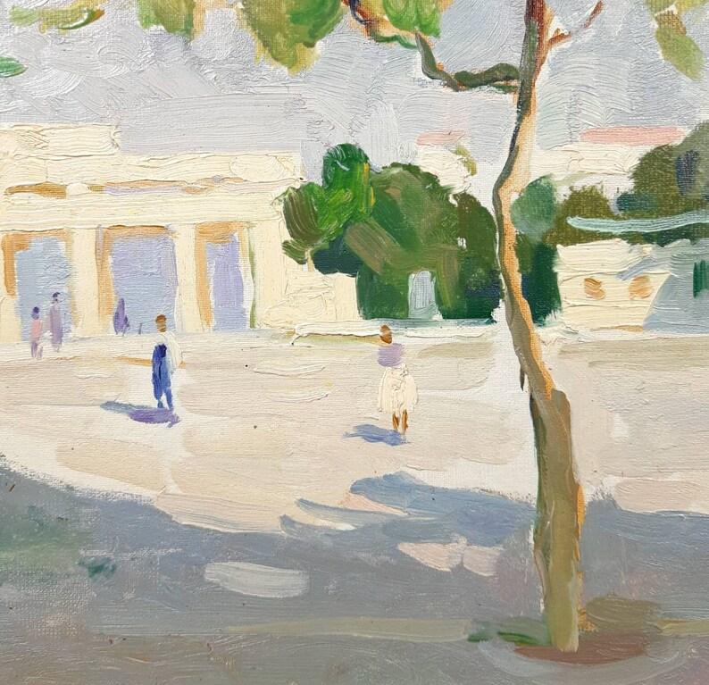 Cityscape Landscape European Fine Art One of a kind Original oil painting Ukrainian artist Babentsov Vintage Painting Seascape