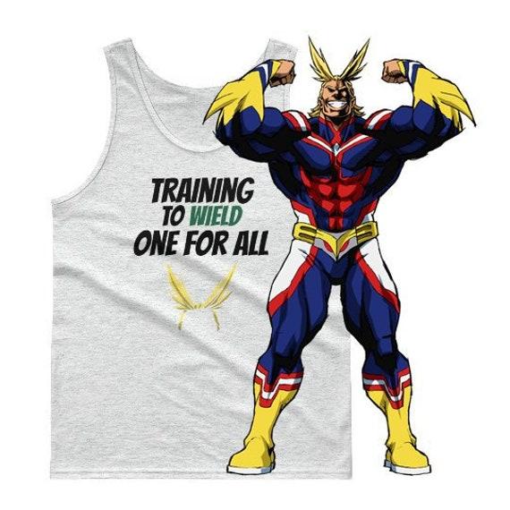 Boku No Hero Academia Tank Top BNHA Tee All Might Shirt Midoriya