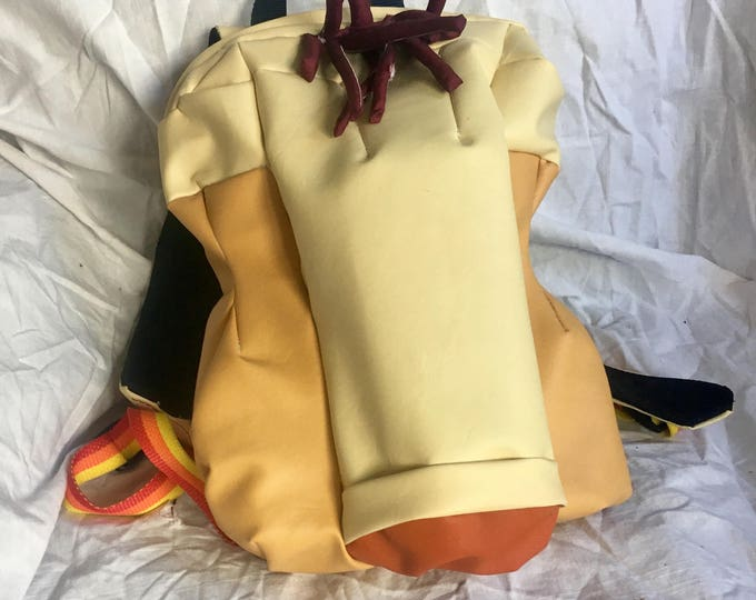 Penis backpack dick shaped bag naked knapsack junk in your trunk genital bag cock and balls sack cock pack nude (early prototype preorder)