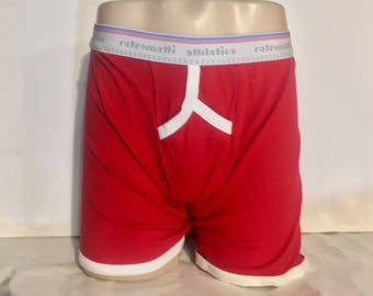 Retro Y Front Boxers in red