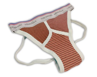 Retro jock strap in vintage fabric