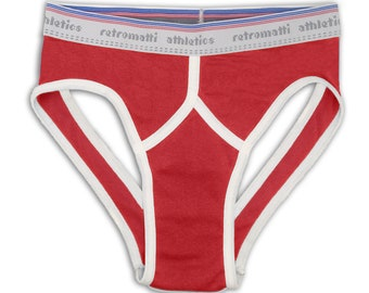 Retro jock briefs in red