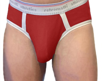 Pouch Retro briefs in red