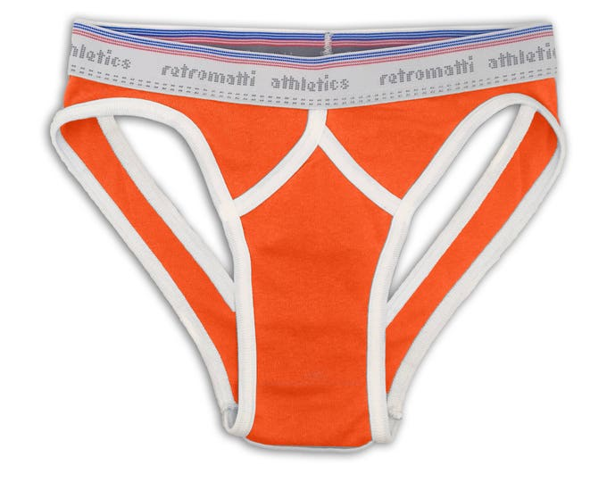 Retro sport jock briefs low rise in orange
