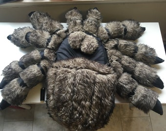 Wolf Tarantula Backpack, Large Wolf Tarantula spider, furry, rugged, water resistant, massive, cuddly, arachnid