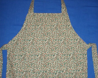Women's Apron with Leaves and Berries