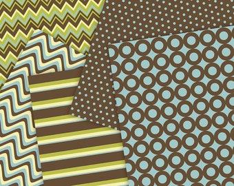 Patterns Set, Scrapbook Printable Paper, Digital Instant Download, Digital Blog Backgrounds, DIY Stationary, Art & Craft, Wrapping Paper