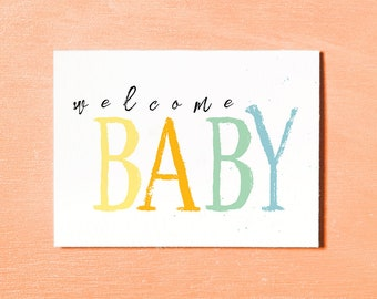welcome baby card new baby card baby girl baby boy instant download printable baby gift baby celebrations card baby congratulations