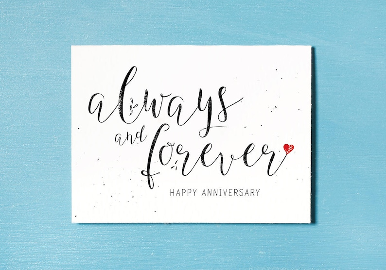 Anniversary Card Instant Download Printable Couples Card image 0