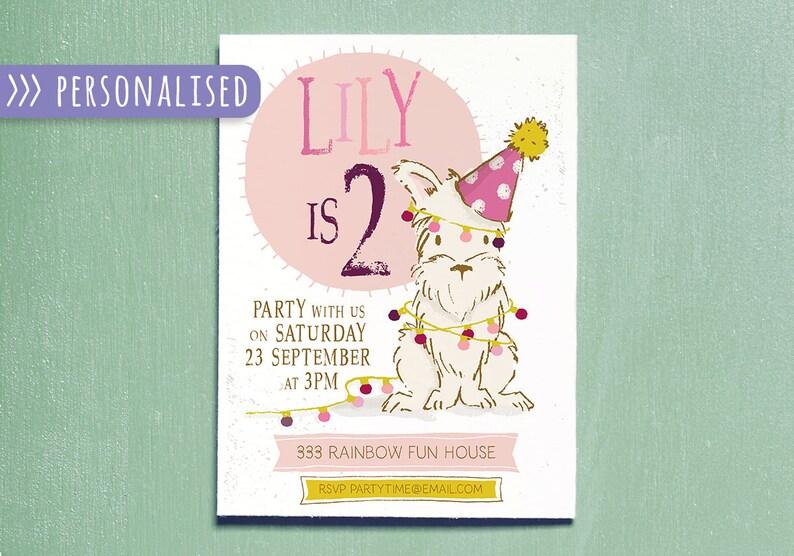 Kids Invitation Children Birthday Party Printable Invitation image 0
