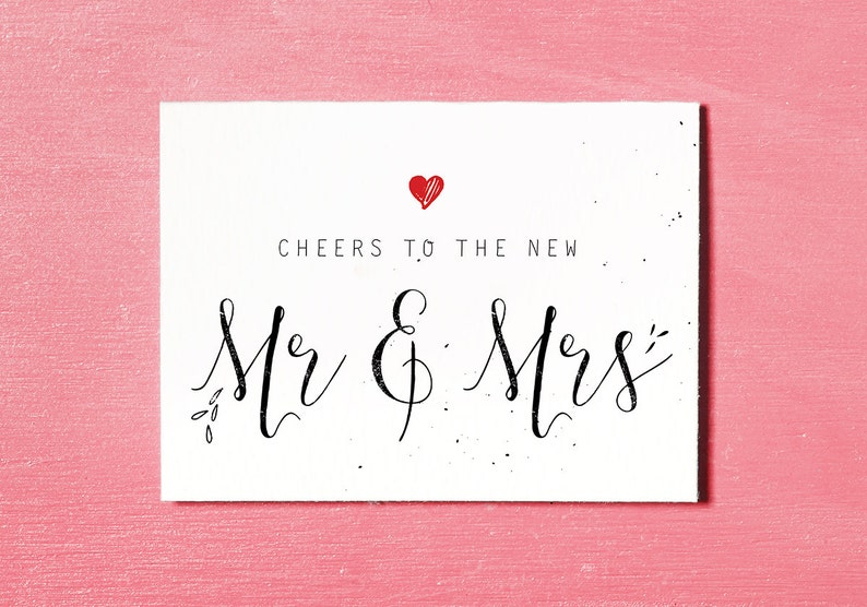 photograph about Printable Wedding Card identified as Mr Mrs Printable, Marriage ceremony Card Congratulations, Bride and Groom Card, Quick Down load, Mr and Mrs Card, Marriage Reward Card, Newlyweds Card