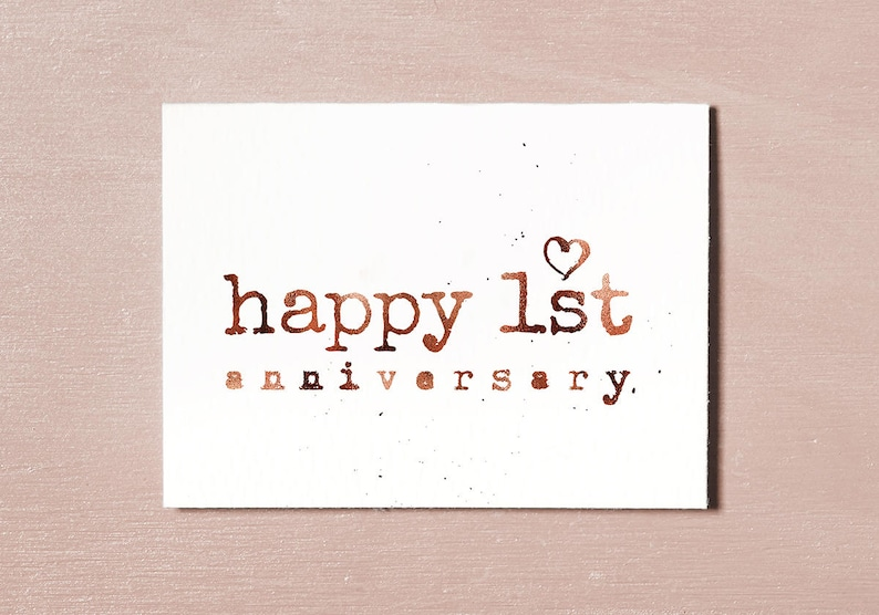First Anniversary Card Instant Download Printable 1 Year image 0