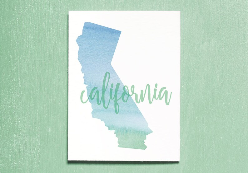 California Typography Print. Instant Download Printable. image 0