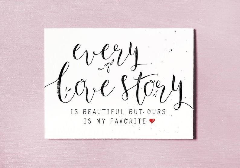 Love Quote Card Instant Download Printable Anniversary Gift image 0